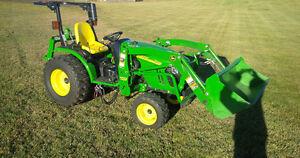 John Deere 2720 Compact Utility Tractor + Loader + Tiller