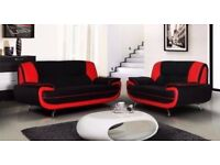🔴⚫️🔴SAME DAY DELIVERY 🔴⚫️🔴BRAND NEW CAROL 3 AND 2 SEATER SOFA -- AVAILABLE IN RED AND BLACK