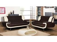 PALR 50% OFF ON SALE-----SQARL WHITE AND BLACK 3+2 SEATER SUITE
