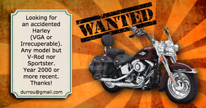 Wanted: Accidented Harley (VGA ou Irrecuperable)