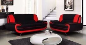 BEST SELLER ! BRAND NEW CAROL SOFA 3+2 * BLACK AND RED OR GREY AND WHITE & BLACK AND WHITE