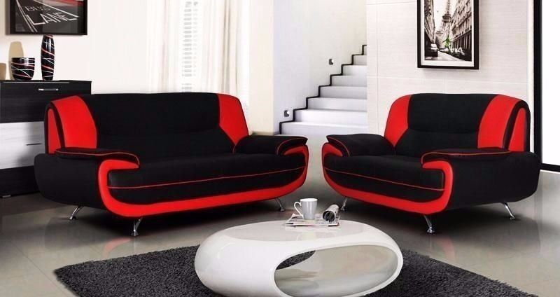 HIGH QUALITY ITALIAN LEATHER 3+2 SEATER SOFA SUITE ON SALE, BRAND NEW IN RED GREY BLACK AND BROWN