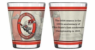 Ohio State Buckeyes OSU NCAA 2.5 oz Shot Glass - 100th anniversary