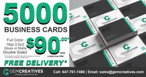 Business Cards Special GTA / Best Price / FREE DELIVERY