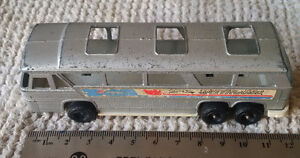 Vintage TOOTSIE TOY Greyhound SILVER Bus made in the USA