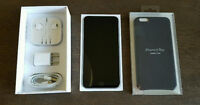iPhone 6 Plus with leather case 64gb Space Gray factory unlocked