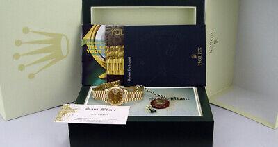 ROLEX - Ladies 18kt Gold Datejust PRESIDENT Champagne Stick - 69178 SANT BLANC