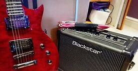 ESP LTD EC100QM Guitar in Black Cherry & Blackstar AMP - Used ONCE - Immaculate