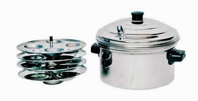 Stainless Steel Idli Cooker Induction Compatible 4 Plates Best Quality Free