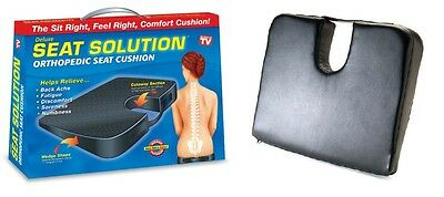 Protech Seat Solution Orthopedic seat cushion Black leather