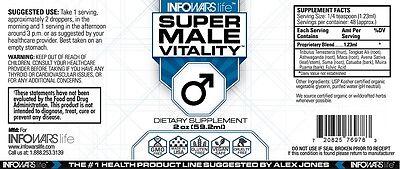 Bulk Discount See Note   Alex Jones Infowars Life   Super Male Vitality  Health