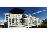 **Beautiful Exclusive SEA VIEW** Modern Platinum grade * 3 BEDROOM caravan for hire at Craig Tara!