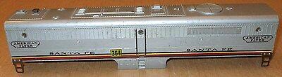 Vintage 1950's American Flyer #364 Santa Fe diesel locomotive B unit shell only