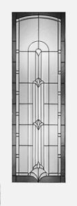 DECORATIVE INTERIOR FRENCH DOOR WITH TINTED AND BEVELED GLASS