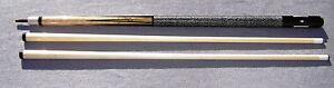 Woodworth-6-Point-gaboon-ebony-black-and-white-ebony-points-Custom-Pool-Cue