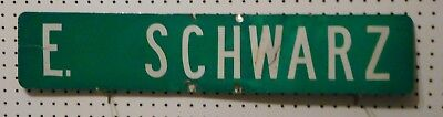Used Street Sign E   W   Or W Schwarz St Green White Letter Al 6X30 Email Choice