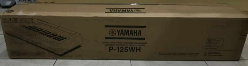 Yamaha P125 WHITE  88-Key Weighted Action Digital Piano - BRAND NEW