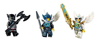 LEGO 70013 Chima Equila, Eglor, and Wilhurt Minifig Minifigure Lot