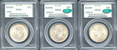 Click now to see the BUY IT NOW Price! 1936 50C BOONE MS65 PCGS ONLY 448 IN HIGHER GRADE SILVER COMMEMORATIVE