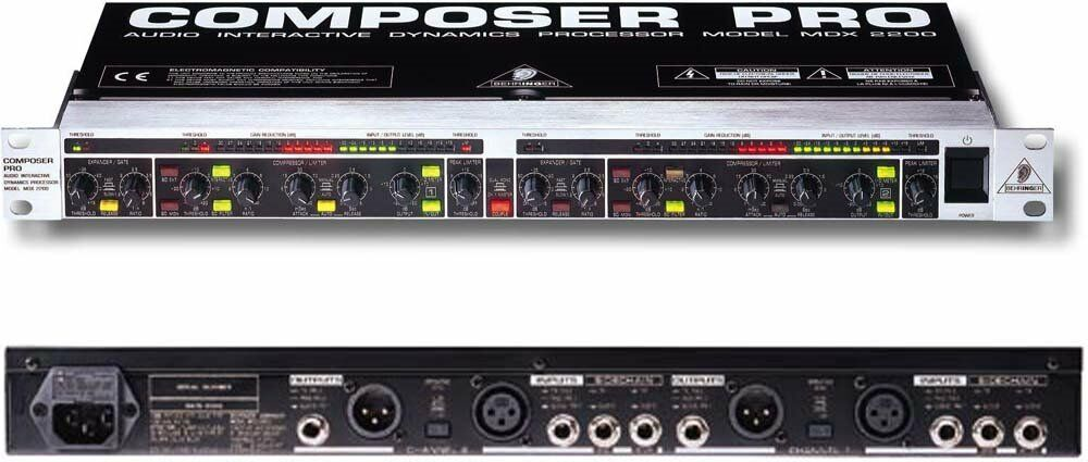 behringer composer mdx 2200 with noise gate compressor limiter for studio guitar vocals dj. Black Bedroom Furniture Sets. Home Design Ideas