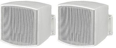 2x Monacor MKS-26/WS Hifi Miniatur Lautsprecher kleine Boxen Wandlautsprecher