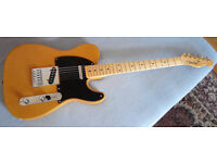 Fender telecaster (USA) with 50s Hot Rod Tele neck