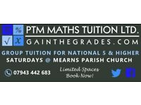 National 5 & Higher Maths Group Tuition, Newton Mearns, Saturday Mornings - Maths Tutor/Tuition