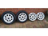 "12"" minilite classic mini alloy wheels"