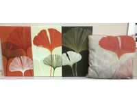 PICTURE / WALL ART CANVAS SET + CUSHION