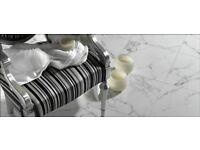 SPECIAL OFFER WALL & FLOOR PORCELAIN TILE FROM SPAIN • CALACATTA WHITE MATT 61,5 X 61,5 • £31,96 m2