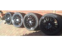"""17"""" zcv 4x100 alloy wheels and tyres"""