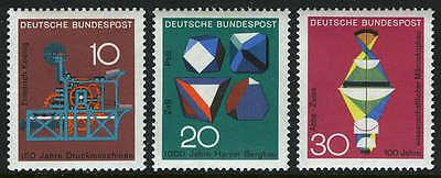 Germany 978-980, MNH. Science,technology,chemistry. Koenig printing press, 1968