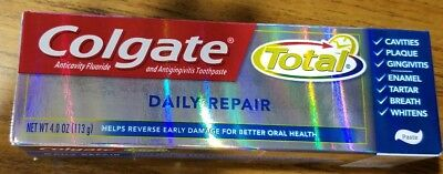 Brand New Colgate Total Daily Repair Toothpaste 4 oz Lot Of 2 Anticavity Fluorid Daily Fluoride Anticavity Mint Toothpaste