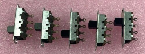 Switchcraft Sliding Switch 3A 125VAC 0.5A 125VDC Lot of 5 (4 Pins)