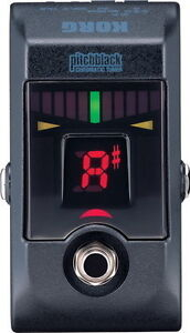 Korg Pitchblack Chromatic Guitar & Bass Floor Pedal Tuner with True Bypass