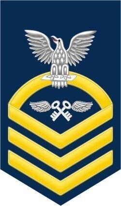 "Aviation Storekeeper AK Navy Chief E-7 Gold 5.5"" Rank Sticker / Decal"