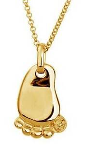 Beautiful 18k gold plated baby foot pendant and chain Ferryden Park Port Adelaide Area Preview