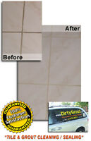 """TILE & GROUT CLEAN & SEAL""...BEST PRICES in K-W!..GUARANTEED"