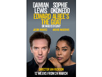 Two tickets for The Goat, Or Who Is Sylvia? with Damian Lewis and Sophie Okonedo