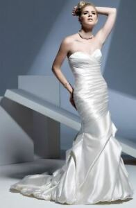 Stunning satin wedding gown brand new
