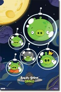 ANGRY-BIRDS-SPACE-PIGS-CELL-PHONE-VIDEO-GAME-NEW-POSTER-22x34-FREE-SHIP