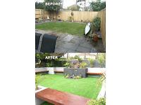 Garden maintenance, artificial grass, design, hard landscaping, turfing, patio's, decking...........