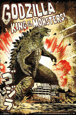 GODZILLA KING OF MONSTERS - CLASSIC MOVIE POSTER, US Version