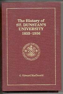 The History of St. Dunstan's University, 1855-1956
