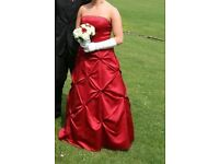 Red prom/bridesmaid dress