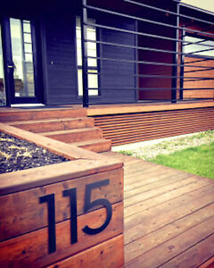 Large Modern Metal House Numbers from House Number King London Ontario image 2