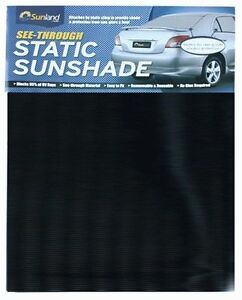 See-Thru Static Cling Sunshade Black