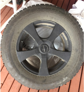245/65/R17  Hakkapeliitta studded tires with rims & lug nuts