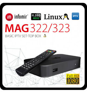 Mag322w1+ 24 months 5000  iptv channels subscription Total $228