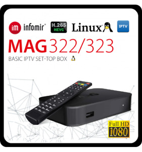 NEW IPTV 5000+ LIVE TV MAG322 W1 + 24 MONTHS SUB ONLY $232